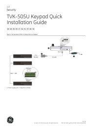 TVK-505U Keypad Quick Installation Guide - UTC Fire & Security