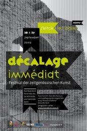 Festival der zeitgenössischen Kunst - Association l'Estafette