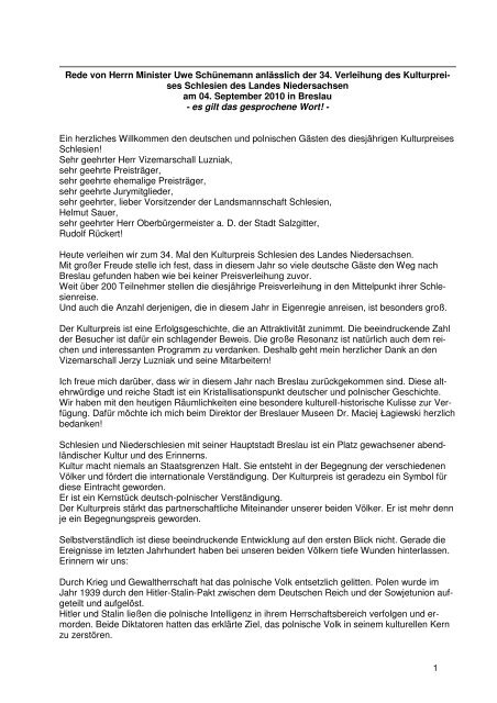 Kulturpreis_Schlesien_04 09 10 - Niedersachsen