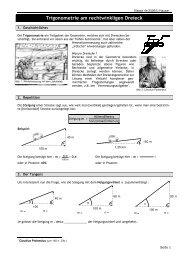 Trigonometrie am rechtwinkligen Dreieck - Urs Hauser