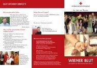 Initiative WIENER BLUT - Österreichisches Rotes Kreuz