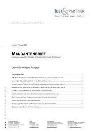 Mandantenbrief 02-2006 - Just & Partner