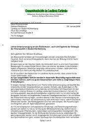 Seite 1 von 4 Herrn Finanzminister Gerhard Stratthaus Landtag von ...
