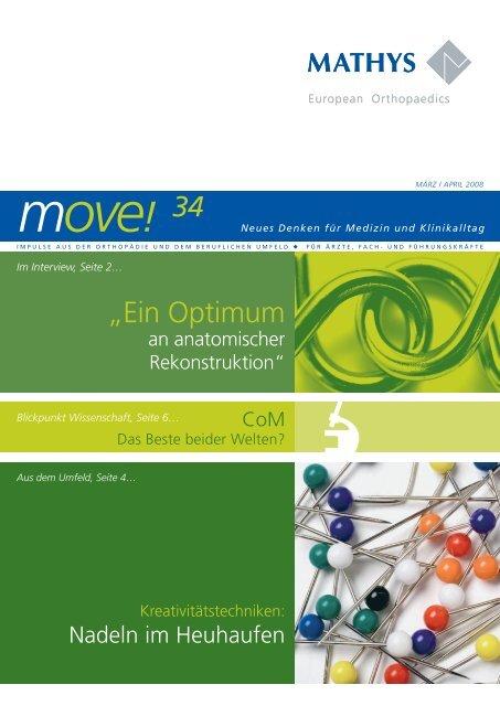 Newsletter move! März/April 2008 - Mathys AG Bettlach