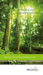 Flyer Orderschuldverschreibungen - ECOreporter.de