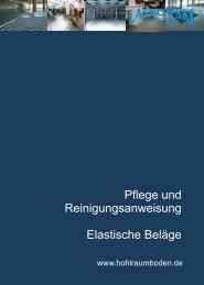 Pflege elastische Beläge - Laskowski Systemboden GmbH