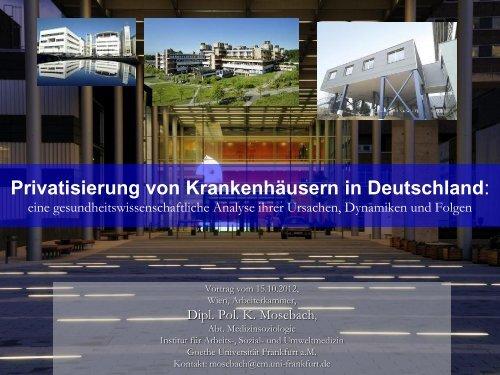 Privatisierung von Krankenhäusern in Deutschland - Arbeiterkammer