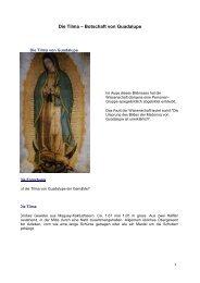 Die Tilma – Botschaft von Guadalupe - Gottes Warnung