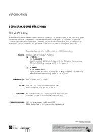 InFOrmAtIOn SOMMERAKADEMIE FÜR KInDER - Stift Klosterneuburg