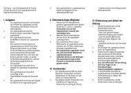 I. Aufgaben II. Stimmberechtigte Mitglieder III. Vorsitzende/r IV ...