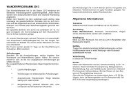 wanderprogramm 2013 - Pro Senectute Nidwalden