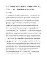 Entwicklung und aktueller Stand der Hüftendoprothetik - Klinikum ...