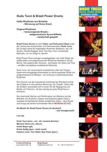 Brazil Power Drums - art.em artists & events