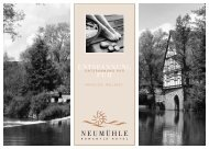 02-NM Preisliste Wellness 2007.qxd - Neumuhle romantik hotel