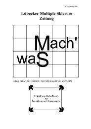 MachWas 1. Ausgabe III / 2001 - Universität zu Lübeck