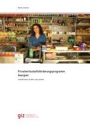 Privatwirtschaftsförderungsprogramm Georgien - GIZ