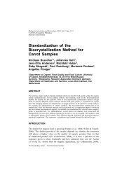 Standardization of the Biocrystallization Method for Carrot Samples