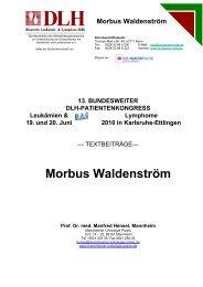 Morbus Waldenström - Mannheimer Onkologie Praxis