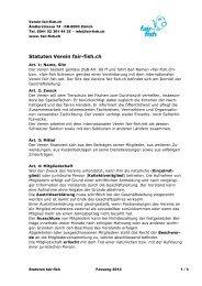 Statuten Verein fair-fish.ch