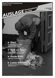 Auslage 01 2005 - RuderVerein Humboldtschule Hannover eV