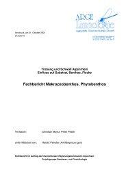 Fachbericht Makrozoobenthos, Phytobenthos