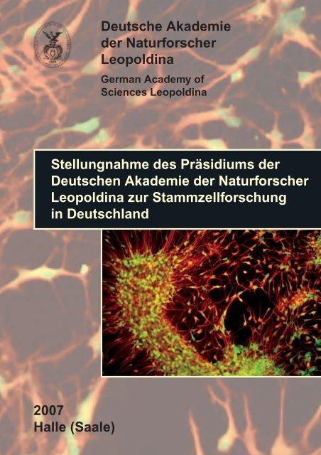 Stellungnahme zur Stammzellforschung - Leopoldina