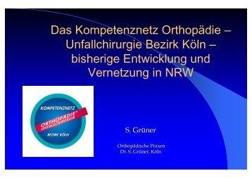 bisherige Entwicklung und Vernetzung in NRW - Kompetenznetz ...