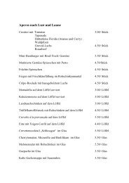 Menus Bankette 2013 PDF