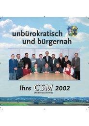 Wahlprospekt der Periode 2002 bis 2008 - CSM Gablingen