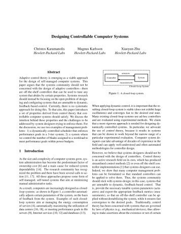 Designing Controllable Computer Systems - Usenix