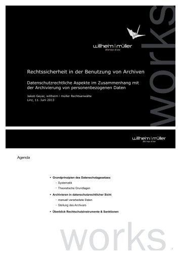 Datenschutzrechtliche Aspekte im Zusammenhang ... - Archiversum