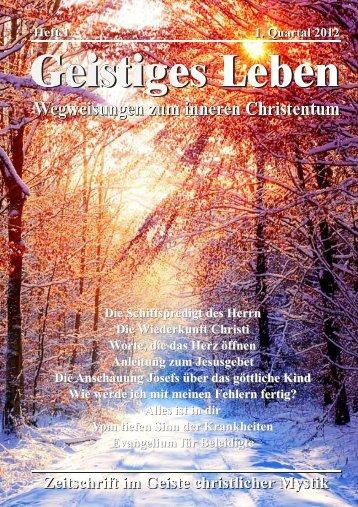 GL 1/2012 - der Lorber-Gesellschaft eV