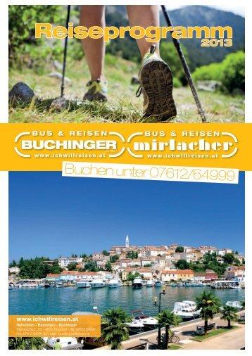 Reiseprogramm - Bus & Reisen Buchinger