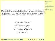 graphematisch annotierte historische Texte