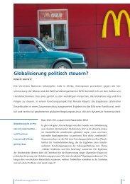 Globalisierung politisch steuern? - MPIfG