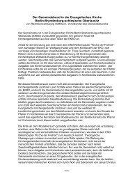 Auf Kosten der Kirchengemeinden- Hoffmann Gemeindebund in der ...