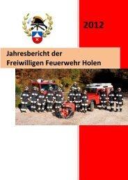 Jahresbericht 2012 der FF Holen - Freiwillige Feuerwehr Holen