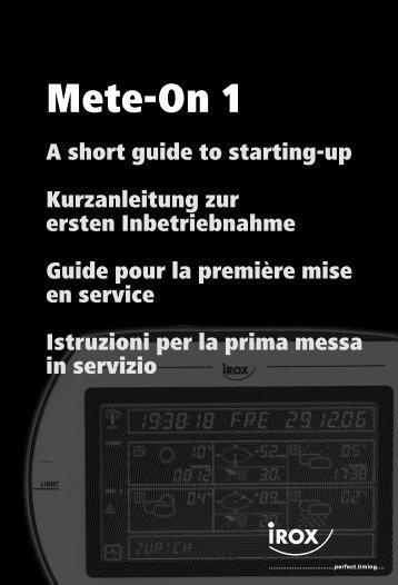 Mete-On 1 - SwissWetter
