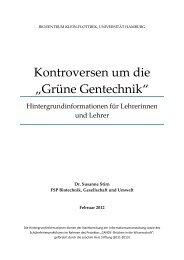 """Kontroversen um die """"Grüne Gentechnik"""" - Universität Hamburg"""