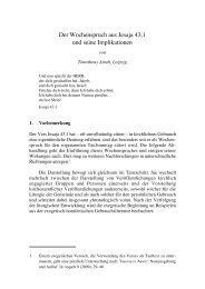 Timotheus Arndt: Der Wochenspruch aus Jesaja ... - reformiert-info.de