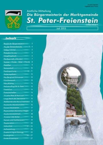 Infoblatt Juli 2013 - Gemeinde St. Peter Freienstein