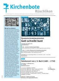 Kibo Nr. 9 / 26. August 2011 - Evangelisch-reformierte ...