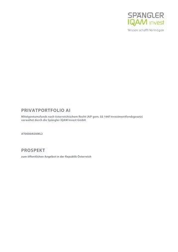 privatportfolio ai - Spängler IQAM Invest
