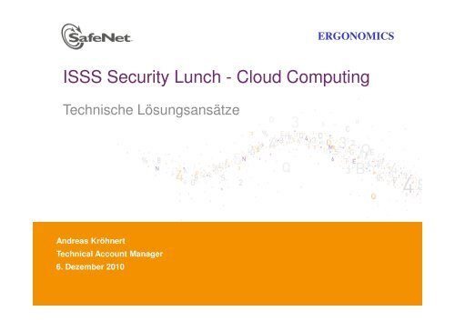 ISSS Security Lunch - Cloud Computing