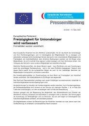 Freizügigkeit für Unionsbürger wird verbessert - mySchool!