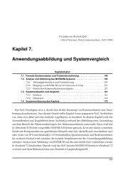 Kapitel 7. Anwendungsabbildung und Systemvergleich