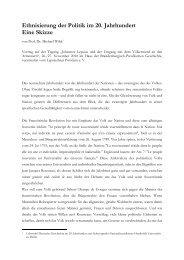 Ethnisierung der Politik im 20. Jahrhundert - LEPSIUSHAUS ...