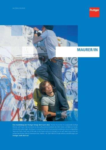 MaurEr/in - Frutiger AG Basel
