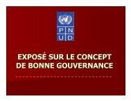 exposé sur le concept de bonne gouvernance - PNUD Gabon