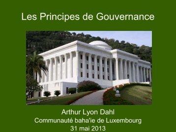 Les Principes de Gouvernance